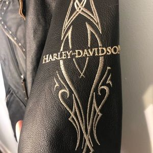 HARLEY-DAVIDSON Studded Leather Jacket Sz. Med
